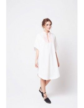 Degraded linen caftan