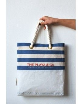 Striped sail tote