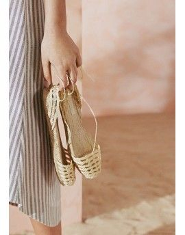 Natural espadrilles from Ibiza
